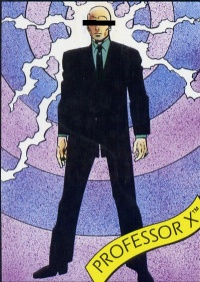 Professor X, walking tall.