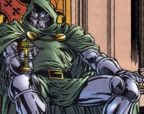 """Doom frequently goes to the karaoke bar near Doom's castle. Singing """"Mandy"""" and """"Rhinestone Cowboy"""" are the only things that give Doom joy in life...until I crush Richards."""